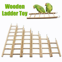 Bird Wooden Ladder Climbing Perch Cockatiel Parakeet Budgie Parrot Pet Toys