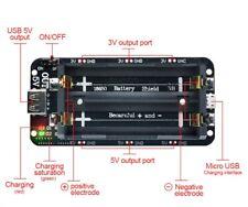 BOX CASE nero per  2 batterie 18650 litio BATTERIA tampone ausiliaria UPS  5V 3V