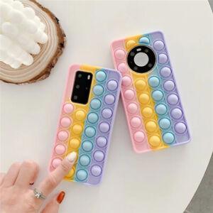 For Samsung S20 S21 S10 S9 A21 A51 Pop Fidget Toys Push Bubble Phone Case Cover