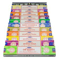 Genuine Satya Sai Baba Nag Champa Variety Set AA 12 x 15 gram Boxes of Incense