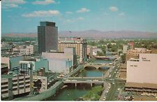 "Reno NV ""View of Downtown, Truckee River""  Postcard Nevada  *FREE U.S. Shipping*"