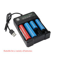 18650 Smart USB Batterie Chargeur for Li-ion Rechargeable Batteries 10440 14500