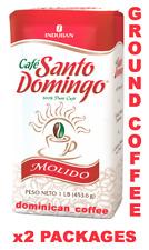 SANTO DOMINGO GROUND COFFEE 2Lbs 100% DOMINICAN COFFEE CAFE DOMINICANO