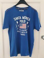 SANTA MONICA POLO CLUB T SHIRT - SIZE- LARGE - BRAND NEW - 100% COTTON
