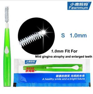 10Pcs Push-pull Interdental Brush Tooth Cleaning Dental Floss Brush Head 1.0mm