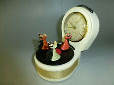 Vintage Dancers Musical Alarm Clock With Reuge Dancing Ballerina Music Box