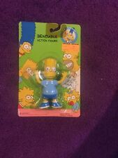 THE SIMPSONS BART 1990 BENDABLE ACTION FIGURE  COOL MAN 5''