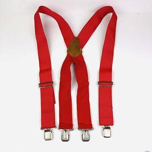 CLC Men's Red Suspenders Top Grain Cowhide No. 110 Elastic Adjustable Pants