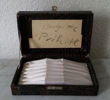 alter leerer Besteckkasten Besteckaufbewahrung 6 Teile 17,5 x 11,5 x 4,5 cm