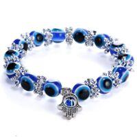 Fashion Blue Evil Eye Bead Protection Good Luck Bracelet Jewellery Turkish Hand