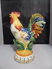 """Fitz & Floyd Classics Ricamo 42oz. Rooster Pitcher 12"""" Tall; Excellent Condition"""