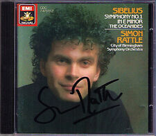Sir Simon Rattle firmato sibelius symphony no. 1 the oceanides CD 1986 Filarmonica