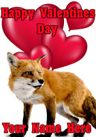 Fox tv112 Fun Cute valentines Day Card A5 Personalised Greetings