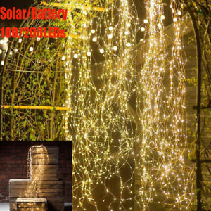 100-200LED Waterfall Tree Vine String Lights Fairy Lamp Wedding Party Home Decor