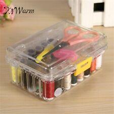 Set Sewing Tool Pack Kit Thread Threader Needle Tape Measure Scissor Thimble