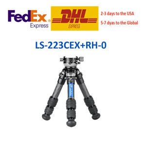 Leofoto Ranger LS-223CEX + RH-0 Leveling Base Mini Tripod for Camera and SLR