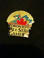 1991 Toronto Blue Jays All Star Game Peter David Press Pin Mint Tough! Baseball