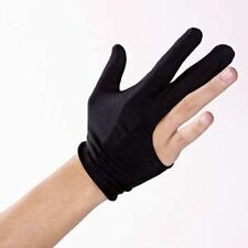 The Pro Billiard Pool Shooters 3 Finger Glove Black. left or right hand uk chalk
