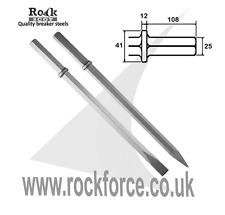 25mm Hex Point & Chisel 380mm u/c! Made UK! 500mm long!