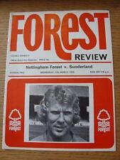 17/03/1976 NOTTINGHAM FOREST V Sunderland (PEN segno sul retro copertina)