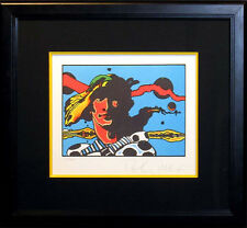 """Peter Max """"Prince Caspian of Narnia"""" SIGNED FINE POP ART Framed lithograph OBO"""