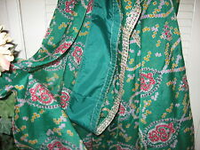 New Indian Saree Hand Made Hand Decorated Green Wedding Bollywood Excel Cond.
