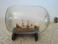 MARITIME, LG. TALL SHIP MODEL IN GLASS BOTTLE