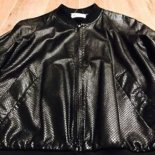Martin Margiela 10 Black Perforated Leather Jacket L/54 XL M Rare 100% Authentic