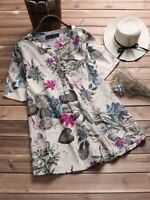 Solid Elegant Floral Pullover O Neck Loose Casual Top Fashion Womens Tops