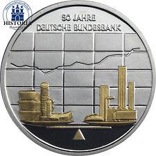 #415 Deutschland 10 Euro Silber 2007 PP  Deutsche Bundesbank teilvergoldet