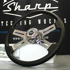 "4 Spoke Steering Wheel 18"" Black (Freightliner, Kenworth, Peterbilt, Volvo)"