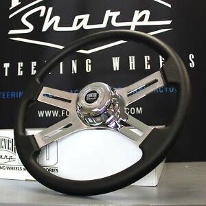 """4 Spoke Steering Wheel 18"""" Black (Freightliner, Kenworth, Peterbilt, Volvo)"""