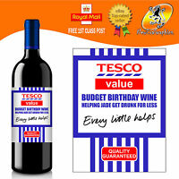 PERSONALISED FUNNY SUPERMARKET WINE BOTTLE LABEL BIRTHDAY ALL OCCASIONS