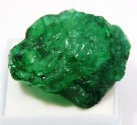 IGI CERTIFIED FREE SHIP! 50 CT ABOVE RICH GREEN NATURAL EMERALD ROUGH GEMSTONE