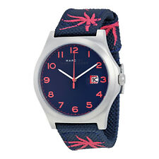 Marc By Marc Jacobs Jimmy Blue Dial Blue Nylon Mens Watch MBM5087