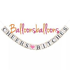 Cheers Bitches Bunting Party Banner Garland Photo Props Hen Party Do Celebration
