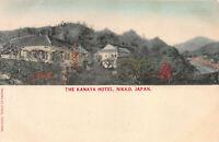 The Kanaya Hotel, Nikko, Japan, Early Hand Colored Postcard, Unused
