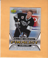 2005 06 UPPER DECK WAYNE GRETZKY ALL TIME GREATEST FINALIST #27 LOS ANGELES KING