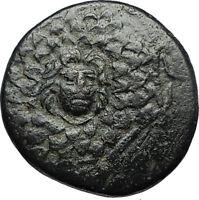 AMISOS in PONTUS 105BC Mithradates VI the Great - Gorgon Nike Greek Coin i67179