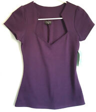 Modcloth Rock Steady Purple Pin Up Top Small NEW NWT