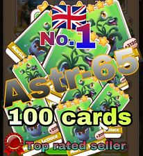 Coin Master :-) 100x Martian Lettuce Card- Fast Delivery