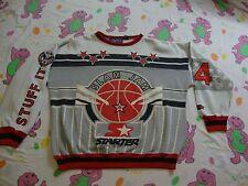 Vintage STARTER Basketball Slam Jam 90's Rap Hip Hop B Boy Sweatshirt Size L