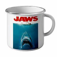 Mug Emaillé Métal Jaws White Sharks Sea