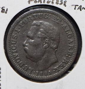 India Portuguese 1881 1/8 Tanga 291930 combine