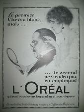 PUBLICITE DE PRESSE L'OREAL BEAUTé COULEUR CHEVEUX ILLUSTRATION JEAN CLAUDE 1922