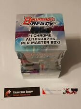 2020 Bowman's Best Factory Sealed Master Hobby Box 12 Packs 4 Autograph Bowman