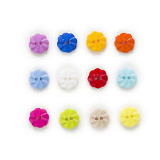100pcs 2 hole Round Nylon Buttons Decor Clothing Sewing Scrapbooking Home 13mm