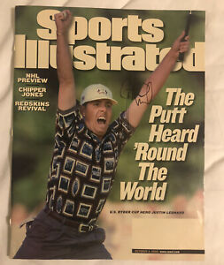 JUSTIN LEONARD PGA Tour Autographed SIGNED 1999 SPORTS ILLUSTRATED magazine