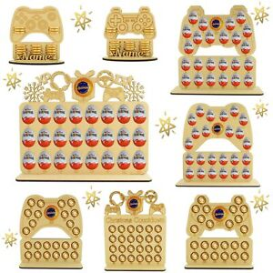 Personalised Childrens Wooden Christmas Advent Calendar Fits Gold Chocolate Coin