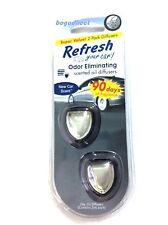 12 PK X 2 Refresh Mini Scented Oil Diffuser Car AC Vent Air Fresheners, NEW CAR